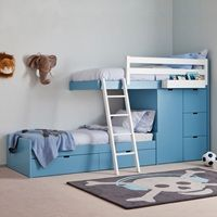 Buy the Kids Train Bed with Wardrobe Storage today! FREE Delivery and a Price Match Guarantee. Kids Beds With Storage, Bed Storage, Kids Wardrobe Storage, Unique Bunk Beds, Cama Junior, Kids Bedroom Dream, Train Bed, Bed With Wardrobe, Bunk Beds With Stairs