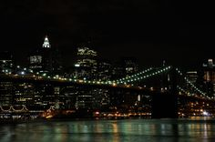Il ponte di Brooklyn by night