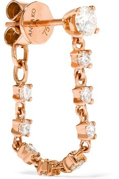 Glittering Diamond earring chain, as worn by Rosie Huntingtom Whiteley, available on Net-a-Porter