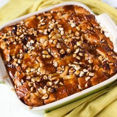 Croissant Bread Pudding with Espresso Butterscotch Sauce