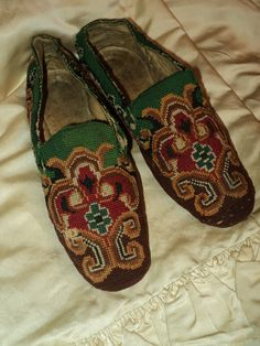 Gentlemens Antique Slippers Woven Ethnic 19th C Museum Quality 1880s by Bellasoiree on Etsy https://www.etsy.com/listing/106043693/gentlemens-antique-slippers-woven-ethnic