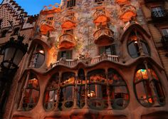 Barcelona, Spain   Barcelona is well-known like capital of the modernism. The city, in which architect Antonio Gaudí lived and worked counts on some of his more excellent works.  I would love to see these in person!