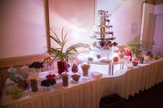 double chocolate fountain hire in Brisbane, Gold Coast and Sunshine Coast regions. Chocolate Fountain Hire, Chocolate Fountains, Ideas Party, Coast, Table Decorations, Waterfalls, Party Ideas, Seaside
