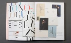 Spread from the book: Even Acne Paper subscriptions cards get special treatment by the Acne Art Department