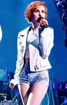 Hayley Williams at the  iHeartRadio Music Festival September 20, 2014