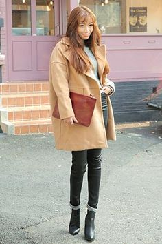 Double Snap-Buttoned Simple Boxy Coat
