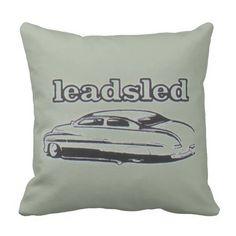 Leadsled custom chopped Mercury Throw Pillow
