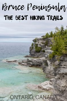 These are the best Bruce Peninsula hiking trails for nature lovers. They're all relatively easy and short hikes to explore beautiful scenery near Tobermory. Hiking Spots, Hiking Trails, Alberta Canada, Bruce Peninsula, Cool Places To Visit, Places To Travel, Montreal, Canada Vancouver, Wild Campen