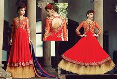 Buy Online Anarkali Salwar Kameez @ Ganesh Fashions Shop Now : http://buff.ly/1NHsHqK #FreeShipping in India #AnarkaliSalwarSuits #SalwarKameez