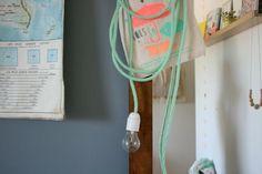 Lamp met gekleurd snoer   emiliesanschichi