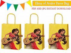 Elena of Avalor Favor Bag/ Princess Elena Favor Bag/ por ANNILORACK