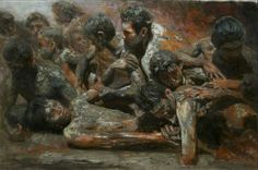 Orley Ypon Awakening III Oil on canvas x cm x Private collection Filipino Art, Philippine Art, Social Realism, Fine Arts College, Painting Competition, Old Master, Art School, New Art, Awakening
