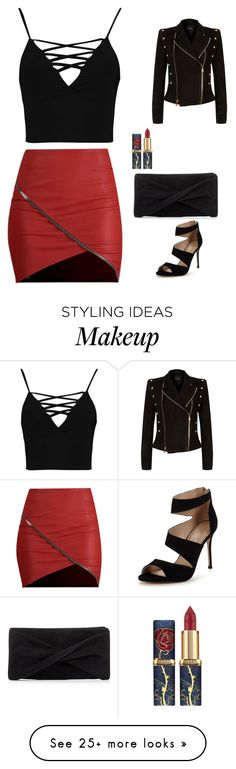 """""""So Chic"""" by sillybands95 on Polyvore featuring Boohoo, Reiss, Carvela and Balmain"""