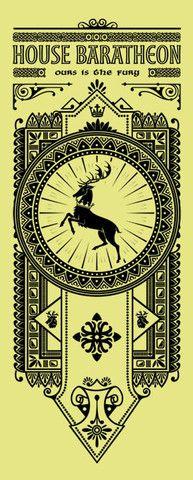 House Baratheon Banner by olipop | #got #agot #asoiaf #series #got #illustration #ilustração