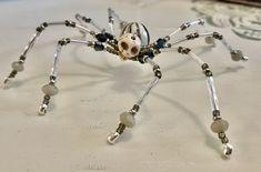 Christmas Spider, Halloween Spider, Beaded Dragonfly, Beaded Skull, Metal Beads, Glass Beads, Copper Wire Crafts, Glass Bead Crafts, Ceramic Christmas Tree Lights