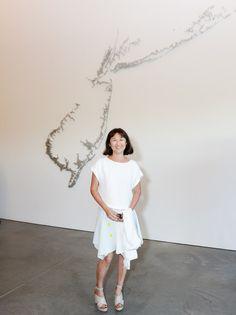 PARRISH ART MUSEUM'S 2014 MIDSUMMER PARTY: Maya Lin. Photo by Owen Hoffmann / PatrickMcMullan.com