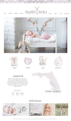 Check out this item in my Etsy shop https://www.etsy.com/ca/listing/478884305/wix-website-design-website-template-baby