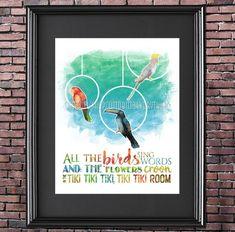 Disney Birds, Disney Enchanted, Tiki Art, Disney Nursery, Tiki Room, Disney Home, Tropical Birds, Watercolor Techniques, All Art