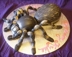 tarantula cake - Google Search Spider Cake, Spider Cookies, Halloween 1, Halloween Cakes, Snake Cakes, Bug Cake, 4th Birthday Cakes, Sculpted Cakes, Cupcake Cookies