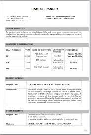 image result for resume formats for freshers download - Professional Cv Format For Freshers