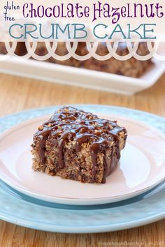 Gluten-Free Chocolate Hazelnut Crumb Cake with Nutella Glaze - you have to make this decadent treat for breakfast, brunch or dessert!| cupcakesandkalechips.com