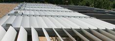 Fabricantes brise soleil aluminio lamas orientables
