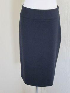 Banana Republic Size 4 Black Stretch Wool Back Slit Career Work Suit Skirt | eBay