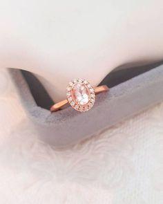 48 Morganite Engagement Rings We Are Obsessed With ❤ morganite engagement rings halo morganite rings1 #weddingforward #wedding #bride