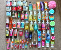 Now this is a hard core bath and body works lover.