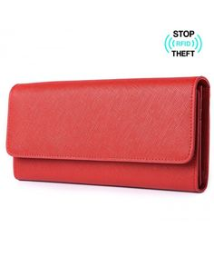 Buy Women's RFID Blocking Genuine Leather Clutch Wallet Card Holder Purse - Red - and More Fashion Bags at Affordable Prices. Rfid Wallet, Clutch Wallet, Best Purses, Purses For Sale, Luxury Handbags, Hobo Bag, Wallets For Women, Leather Clutch, Fashion Bags