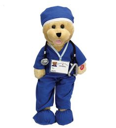 Scrub Soft Toy | Singing Bear In Blue Scrubs #scrubs #healthpractitioner #healthprofessional
