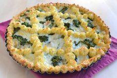 Piatti unici ricette Crostata di patate con broccoli e provola