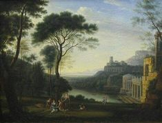 Claude Lorrain nymphs playing by the lake  #history #medieval #middleages