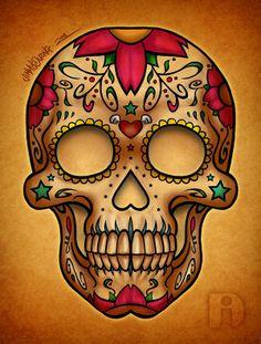 Dia De Los Muertos Candy Skull