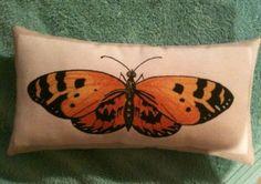 Butterfly Fabric Decorative Cushion - Handmade