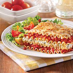 Lasagne aux saucisses et ricotta - 5 ingredients 15 minutes
