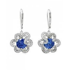 7.21 CTW Tanzanite Sterling Silver Earrings - December Birthstone – Tanzanite - Special Events