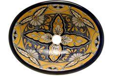 beautiful spanish style pottery sink