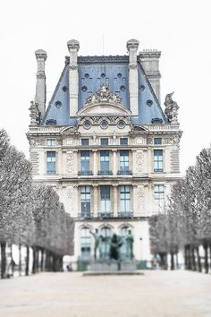 Paris Photography - The Louvre in Winter, Fine Art Photography Print, Neutral French Home Decor, Large Wall Art Places Around The World, Oh The Places You'll Go, Around The Worlds, Paris Travel, France Travel, Paris By Night, Belle Villa, Paris Ville, Paris Photography