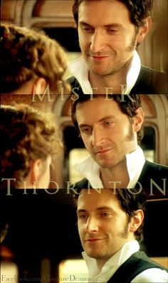 Mr. Thornton. My FAVORITE part of the whole thing. When he kisses her at the train station! North & South