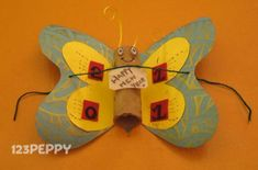 How to Make a Butterfly New Year Greeting