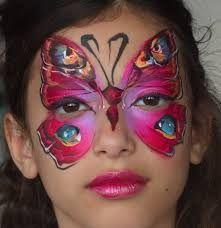 Image result for face painting rainbow butterfly