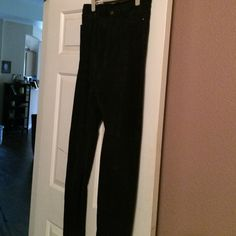 100% Leather (Suede)-Tall-Absolutely gorgeous 100% Leather-Beautiful pants-Worn once! Pants Straight Leg