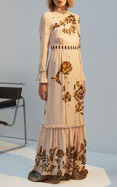 The Emilia Long Sleeve Full Length Dress by Vilshenko | Moda Operandi