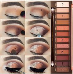 Urban Decay: Naked Heat Collection Urban Decays naked heat palette is just makeup goals in every way. These shades are to die for and comes with such a beautiful mix of amber nudes & deep roses Natural Eye Makeup Step By Step, Makeup Tutorial Step By Step, Eye Makeup Steps, Simple Eye Makeup, Natural Makeup, Urban Decay Makeup, Urban Decay Naked Heat, Make Up Tutorials, Brown Makeup
