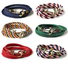 bracelets with anchor clasps by kiel james patrick