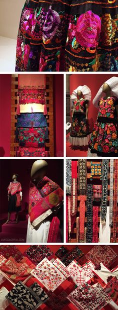 Traditional garments from different cultures around Mexico. The patterns and textiles are striking! | Live Colorful