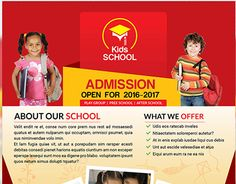 """Check out new work on my @Behance portfolio: """"Kids School Flyer Template"""" http://be.net/gallery/34717591/Kids-School-Flyer-Template"""
