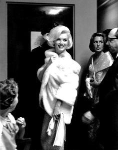 Marilyn Monroe at JFK's birthday, 1962.