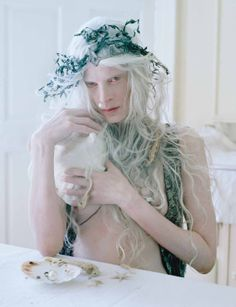 Kristen McMenamy by Tim Walker for W Magazine December 2013 8